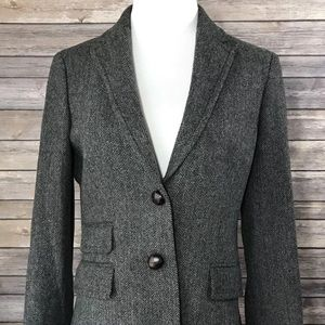 J. Crew Factory Wool Gray Wool Hacking Jacket S-14